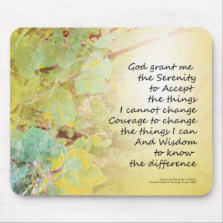 Serenity Prayer Manzanita Golden Mouse Pad