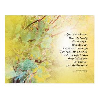Serenity Prayer Manzanita Golden Postcard