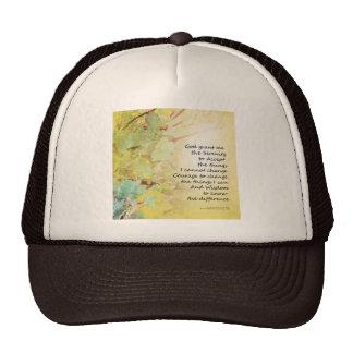 Serenity Prayer Manzanita Golden Trucker Hat