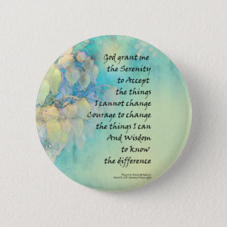 Serenity Prayer Manzanita Pinback Button