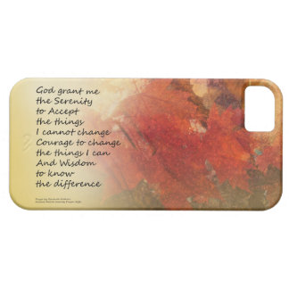 Serenity Prayer Maple Leaves Orange iPhone SE/5/5s Case