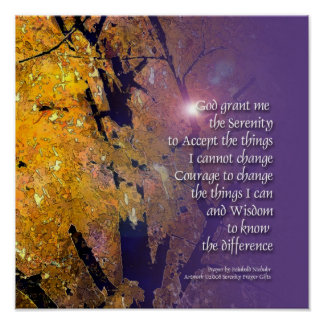 Serenity Prayer Maple Poster