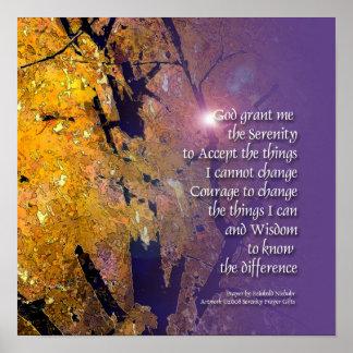 Serenity Prayer Maple Poster