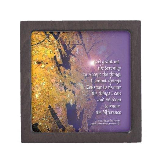 Serenity Prayer Maple Premium Gift Box