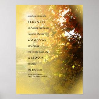 Serenity Prayer Maples Light Poster