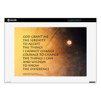 "Serenity Prayer May Moon 15"" Laptop Decals"
