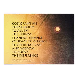 Serenity Prayer May Moon 5x7 Paper Invitation Card