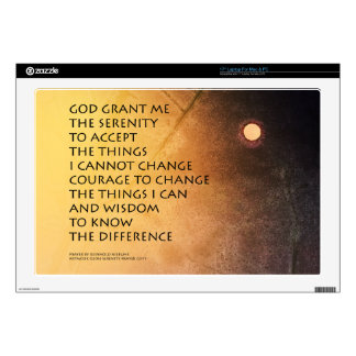 """Serenity Prayer May Moon Decal For 17"""" Laptop"""