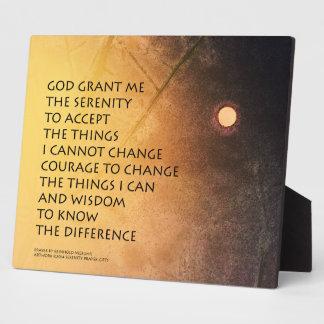 Serenity Prayer May Moon Plaque