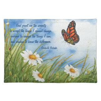 Serenity Prayer - Monarch Butterfly - Place Mat