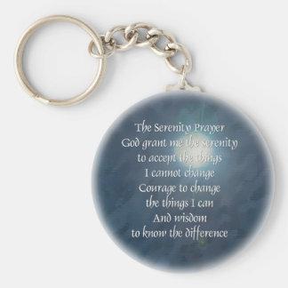 Serenity Prayer Moon Keychain