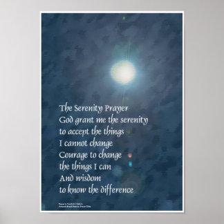 Serenity Prayer Moon Poster