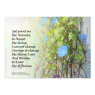 Serenity Prayer Morning Glories and Fence Business Cards