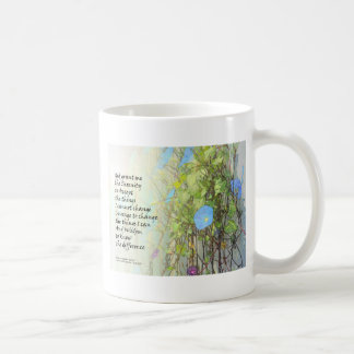 Serenity Prayer Morning Glories and Fence Coffee Mug
