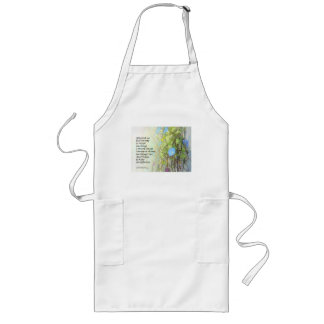 Serenity Prayer Morning Glories and Fence Long Apron