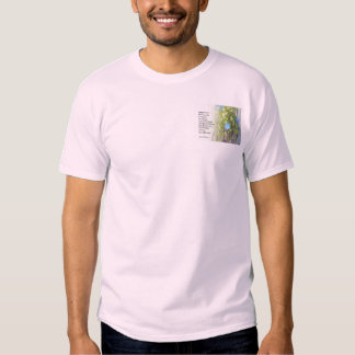 Serenity Prayer Morning Glories and Fence T-shirt