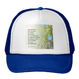 Serenity Prayer Morning Glories and Fence Trucker Hat