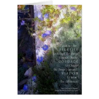Serenity Prayer Morning Glories Card