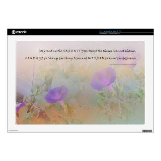 Serenity Prayer Morning Glories Decals For Laptops
