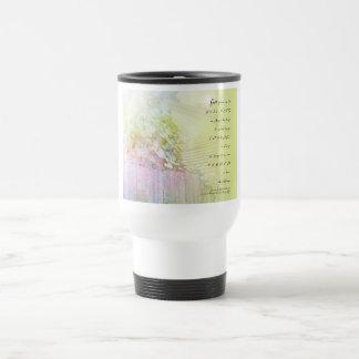 Serenity Prayer Morning Glories Fence Coffee Mug