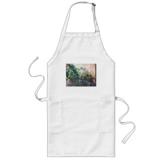 Serenity Prayer Morning Glories Long Apron