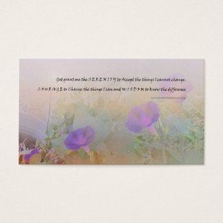 Serenity Prayer Morning Glory Business Card