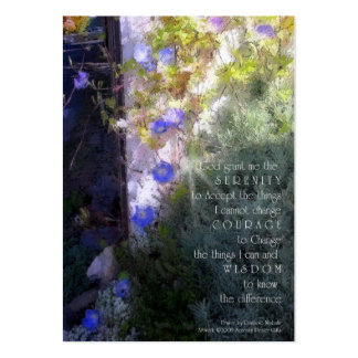 Serenity Prayer Morning Glory Business Card