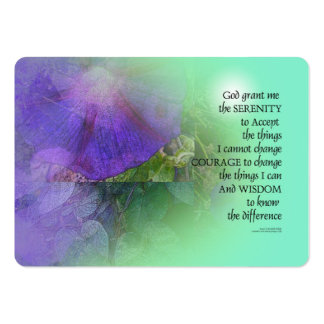 Serenity Prayer Morning Glory Collage Large Business Card