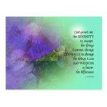 Serenity Prayer Morning Glory Collage Postcard