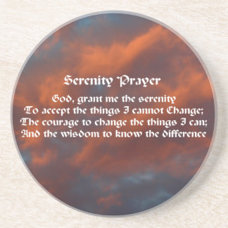 Serenity Prayer Morning Sky Inspirational Coaster
