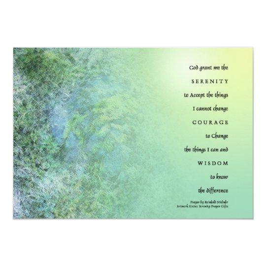 Serenity Prayer Moss on Rocks Card