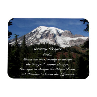 Serenity Prayer Mount Rainier Photo Magnet