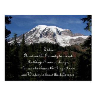 Serenity Prayer Mount Rainier Photo Postcard