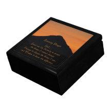 Serenity Prayer Mountain Sunset Jewelry Box