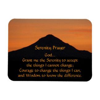 Serenity Prayer Mountain Sunset Rectangular Photo Magnet
