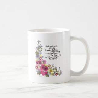 Serenity Prayer Classic White Coffee Mug