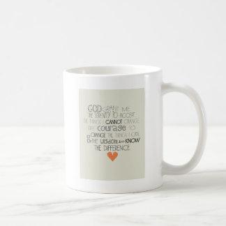 Serenity Prayer Classic White Coffee Mug