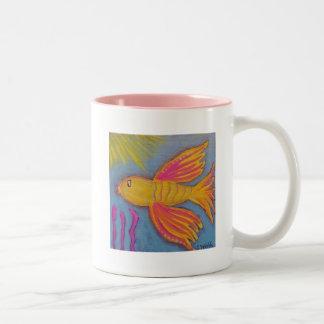 Serenity Prayer Mug with Beta Fish