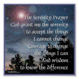 Serenity Prayer Night Light Poster