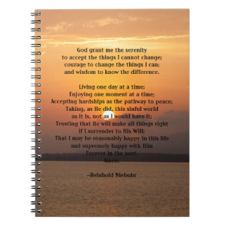 Serenity Prayer Note Books