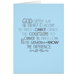 Serenity Prayer Notecards Card