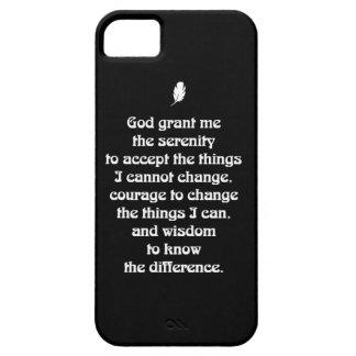 Serenity Prayer Nouveau White Tiny Feather iPhone SE/5/5s Case