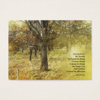 Serenity Prayer Oak Grove Business Card