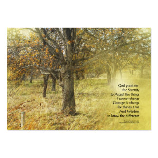 Serenity Prayer Oak Grove Large Business Card