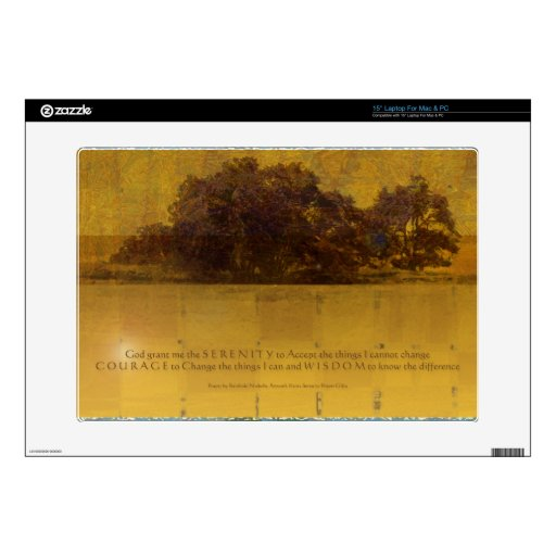 Serenity Prayer Oaks at the Lake Decals For Laptops