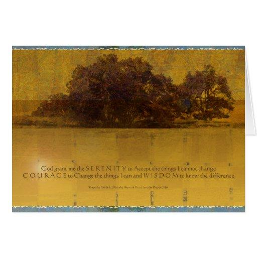 Serenity Prayer Oaks by the Lake Card