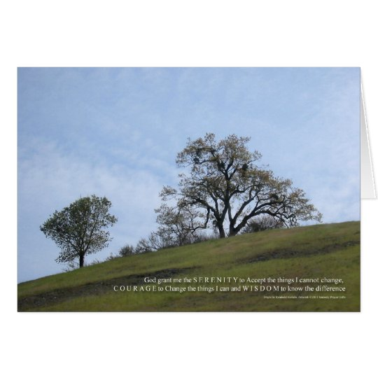 Serenity Prayer Oaks Card