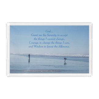 Serenity Prayer Ocean Beach Serving Tray