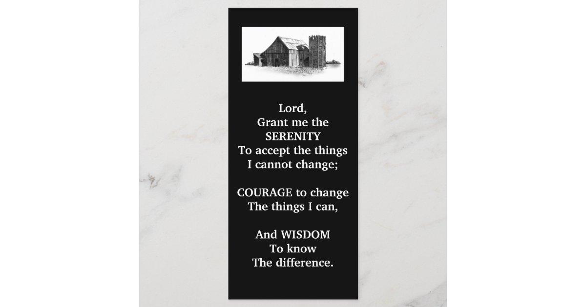 serenity prayerold barnpencil artrack card zazzlecom