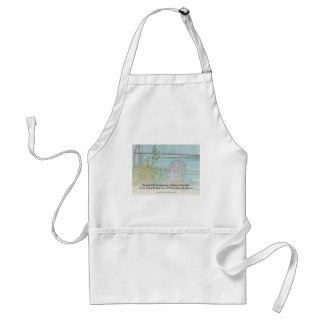 Serenity Prayer Old Chair and Flowers Adult Apron